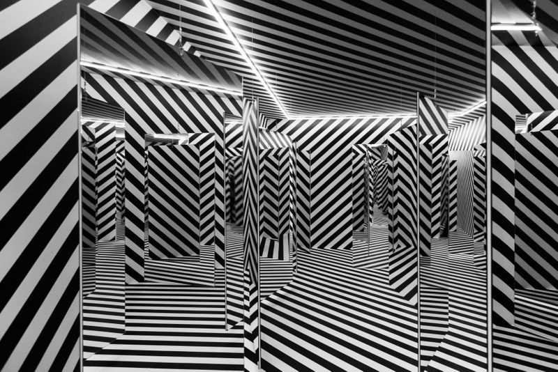 "Julio_Le_Parc_View of the group exhibition ""The Other Trans-Atlantic. Kinetic and Op Art in Eastern Europe and Latin America 1950s - 1970s"" at GARAGE MUSEUM OF CONTEMPORARY ART  Moscow (Russia), 2018_15014"
