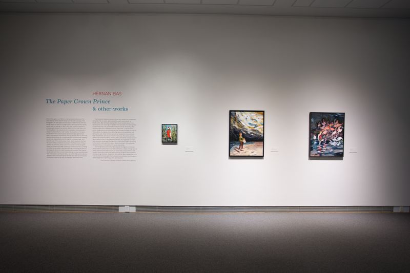 """Hernan_Bas_View of the exhibition """"Hernan Bas: The Paper Crown Prince and Other Works"""" at COLBY MUSEUM OF ART Waterville (USA), 2018_15173"""