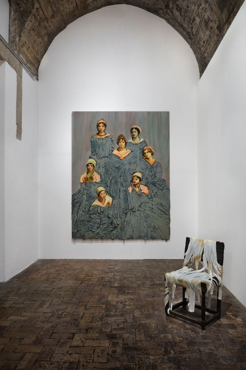 """claire_tabouret_""""One day I broke a mirror """" curated by Chiara Parisi  at Villa medici  Rome (Italy), 2017_15242"""