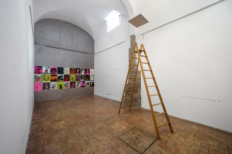 """claire_tabouret_""""One day I broke a mirror """" curated by Chiara Parisi  at Villa medici  Rome (Italy), 2017_15244"""