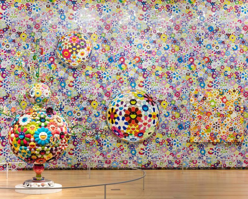 View of the exhibition Takashi Murakami: THE OCTOPUS EATS ITS OWN LEG Modern Art museum of Fort Worth 2018