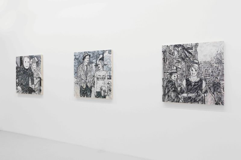 """View of the exhibition """"French Fries with Mayo"""" at Perrotin Paris, 2018"""