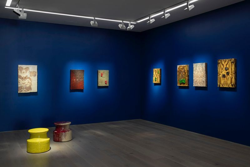 "Johan_Creten_View of the exhibition ""Alfred Paintings"" at NEW YORK GALLERY LLC  NEW YORK (USA), 2018_15957"