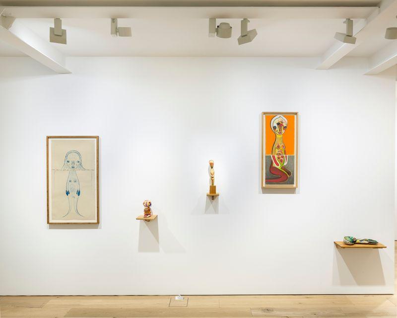 View of Izumi Kato's solo exhibition at Perrotin, Seoul, 2018.