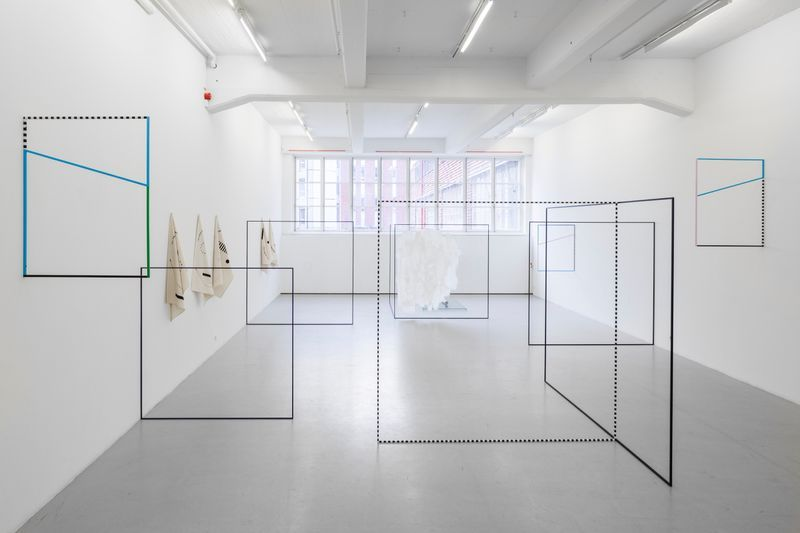 """View of the exhibition """"THE NEW PSYCHOLOGY"""" at Andréhn-Schiptjenko Gallery, Stockholm, 2014."""