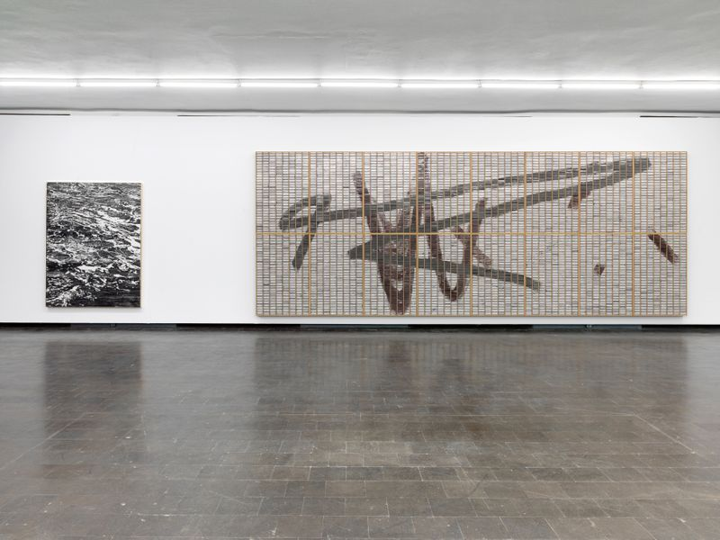 "Gregor_Hildebrandt_View of the exhibition ""Tönend hallt die Jugend"" at KUNSTHALLE RECKLINGHAUSEN Recklinghausen, 2018_16199"
