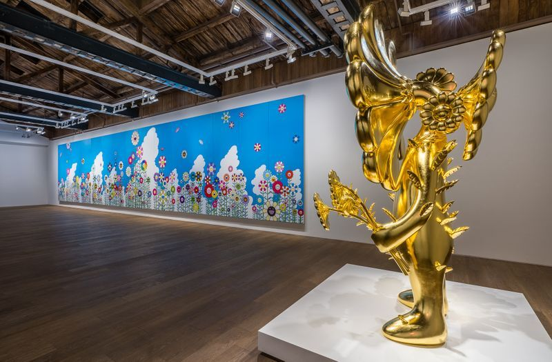 "Takashi_Murakami_View of the exhibition ""Takashi Murakami in Wonderland"" at Perrotin, Shanghai (China), 2018_16300"