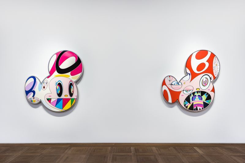 "Takashi_Murakami_View of the exhibition ""Takashi Murakami in Wonderland"" at Perrotin, Shanghai (China), 2018_16302"