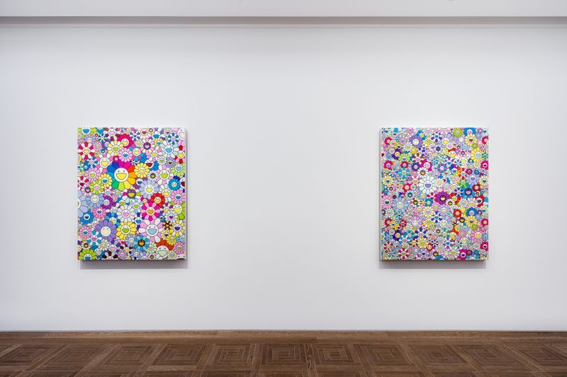 "Takashi_Murakami_View of the exhibition ""Takashi Murakami in Wonderland"" at Perrotin, Shanghai (China), 2018_16304"