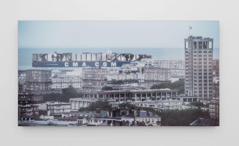 Women are Heroes, Elizabeth Kamanga on sea, Le Havre, France, 2014Color photograph, mat plexiglas, aluminum, woodh. 125 × L. 235 cm | h. 49 3/16 × l. 92 1/2 in2/3 + 2 AP