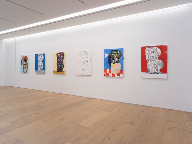 "eddie_martinez_View of the exhibition ""Blockhead Stacks"" at Perrotin Co., Ltd.  Tokyo (Japon), 2018_16494"
