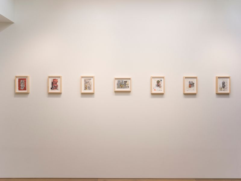 "eddie_martinez_View of the exhibition ""Blockhead Stacks"" at Perrotin Co., Ltd.  Tokyo (Japon), 2018_16496"