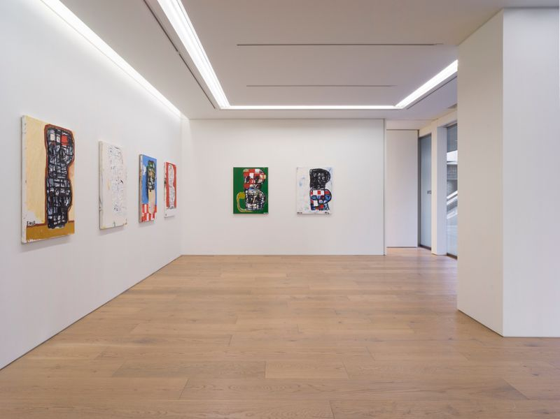 "eddie_martinez_View of the exhibition ""Blockhead Stacks"" at Perrotin Co., Ltd. Tokyo (Japon), 2018_16513"