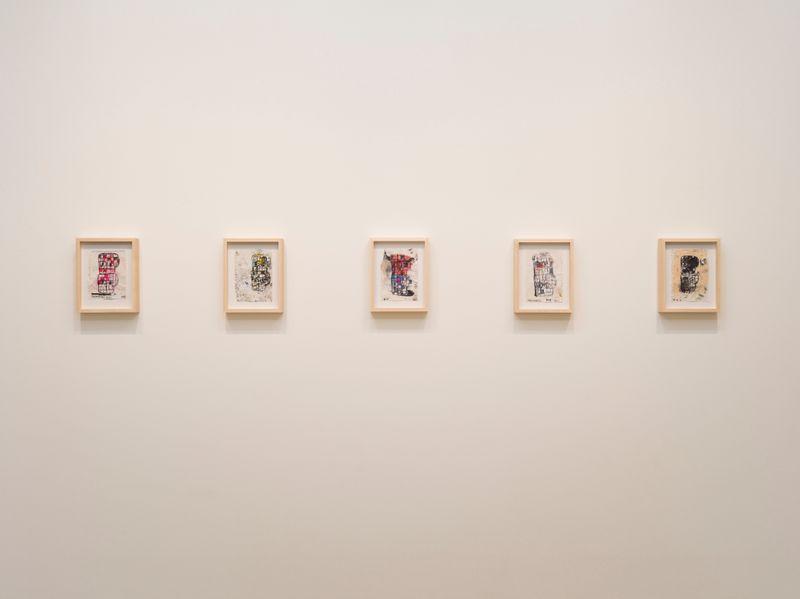 "eddie_martinez_View of the exhibition ""Blockhead Stacks"" at Perrotin Co., Ltd.  Tokyo (Japon), 2018_16516"