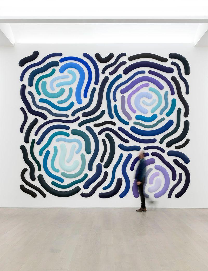 Hocus Pocus, 2018Acrylic on canvas (84 elements)4.5 × 5.5 m | 15 × 17.5 ftUnique