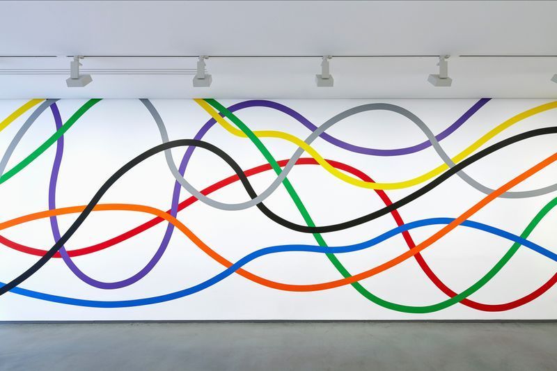 Wall Drawing #1183: Eight bands of color, from 2005