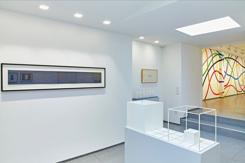 "View of the exhibition ""Sol LeWitt, presented by Paula Cooper Gallery"" at Cahiers d'Art Gallery PARIS (France)"