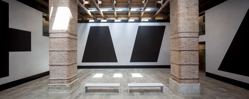 Wall Drawing #343 (L-R: G, E, F, C ) at Punta della Dogana, Venice, 2016
