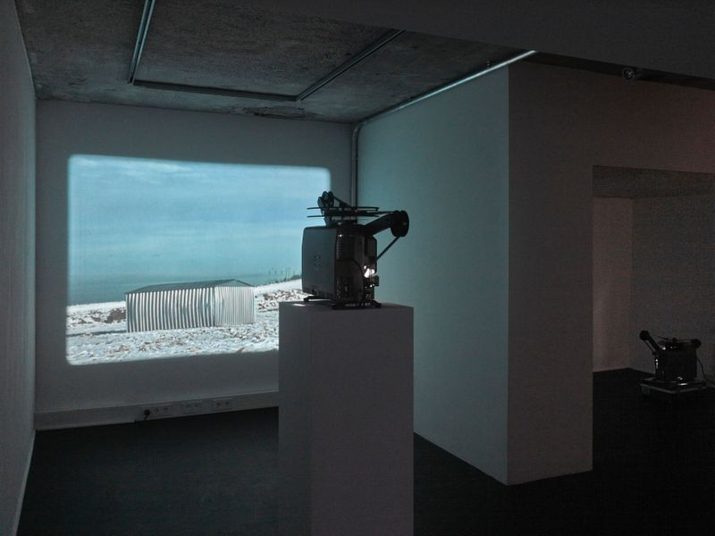 """Michael_Sailstorfer_View of the exhibition """"Space is the Place (2/4) : Michael Sailstorfer"""" at BNKR Art Center  Munich (Germany)_16911"""