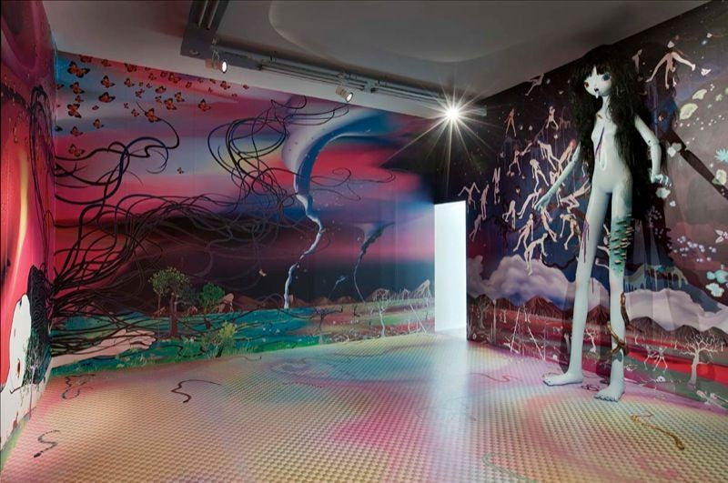 """Chiho_Aoshima_View of the exhibition """"The giant and the courtesans"""" at Perrotin (France), 2007_1705_1"""