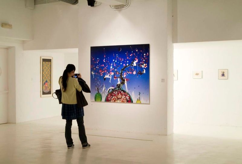 """Chiho_Aoshima_View of the exhibition """"Horror and seduction"""" at Fondation Joan Miro (Spain), 2008_1711_1"""
