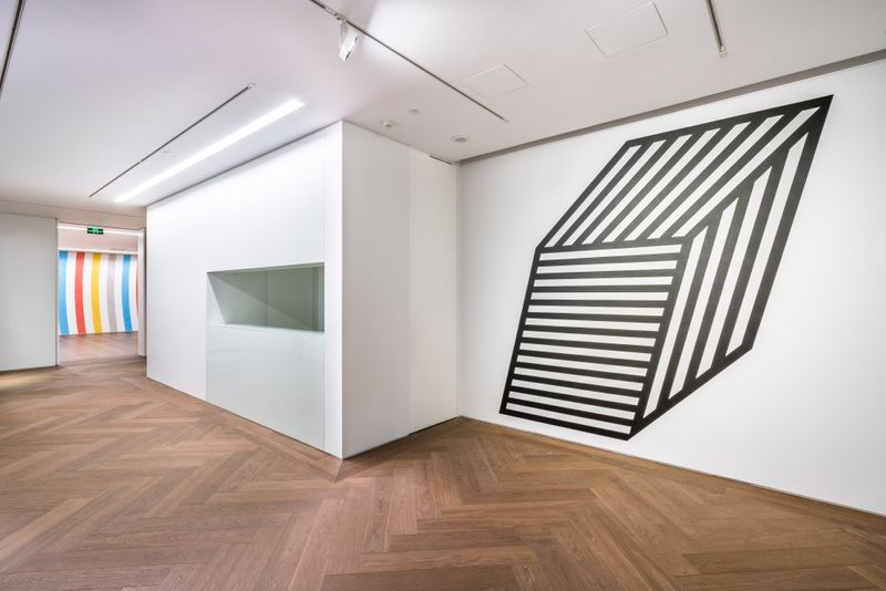 "View of the exhibition ""Sol LeWitt: Wall Drawings"" at Shanghai Perrotin, 2019"