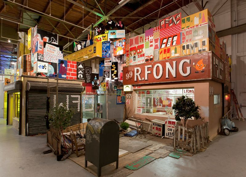 """barry_mcgee_View of the exhibition """"Art in the Streets"""" at The Museum of Contemporary Art  LOS ANGELES (USA)_19987"""