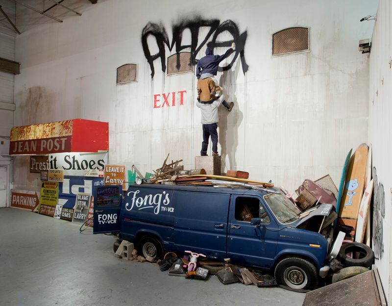 """barry_mcgee_View of the exhibition """"Art in the Streets"""" at The Museum of Contemporary Art  LOS ANGELES (USA)_19988"""