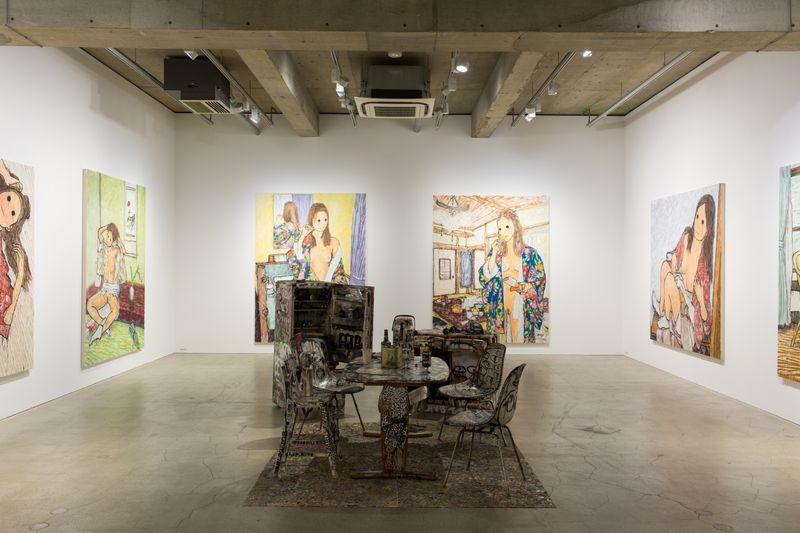 """View of the exhibition """"HERE TODAY, GONE TOMORROW"""" at Kaikai Kiki Gallery, Tokyo, 2017"""