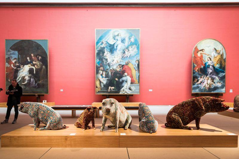 Wim_Delvoye_View of the exhibition  at Musée Royaux des Beaux-Artsde Bruxelles  BRUXELLES (Belgium)_20068