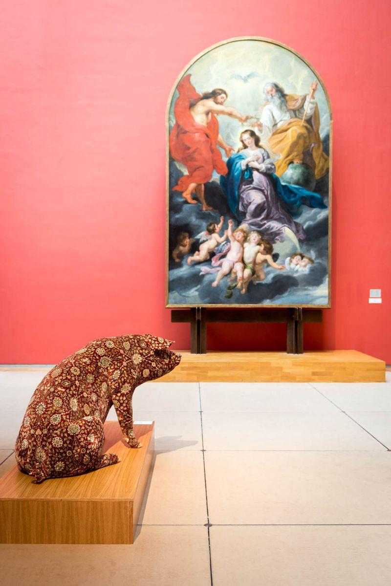 Wim_Delvoye_View of the exhibition  at Musée Royaux des Beaux-Artsde Bruxelles  BRUXELLES (Belgium)_20069