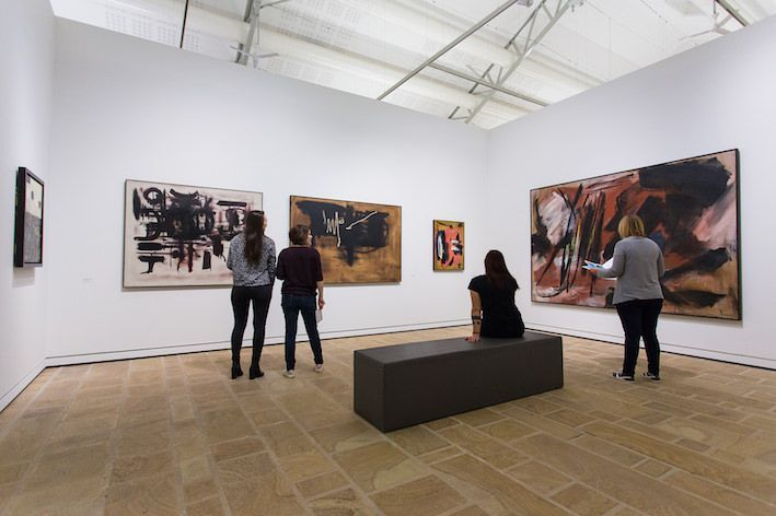 """Georges_Mathieu_View of the group exhibition """"Hartung et les peintres lyriques"""" at Fond Hélène & Edouard Leclerc  (France)_20178"""