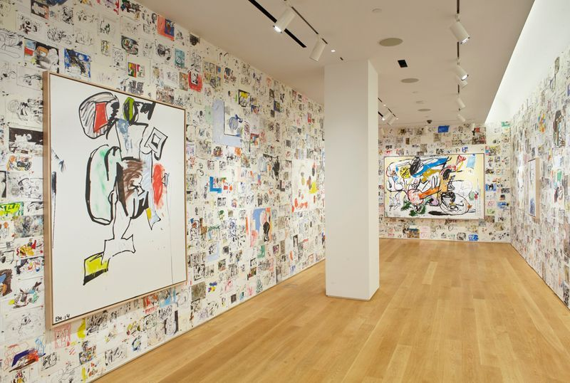 "Installation view of ""Studio Wall"" at The Drawing Center, New York"