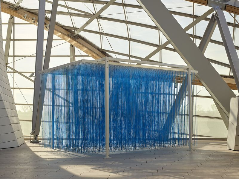 """Jesus_Rafael_Soto_View of the group exhibition """"La Collection de la Fondation: Le parti de la peinture"""" curated by  Suzanne Pagé, Sébastien Gokalp  at FONDATION LOUIS VUITTON PARIS (France)_20298"""