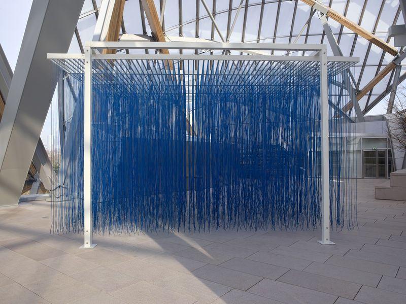 """Jesus_Rafael_Soto_View of the group exhibition """"La Collection de la Fondation: Le parti de la peinture"""" curated by  Suzanne Pagé, Sébastien Gokalp  at FONDATION LOUIS VUITTON PARIS (France)_20302"""