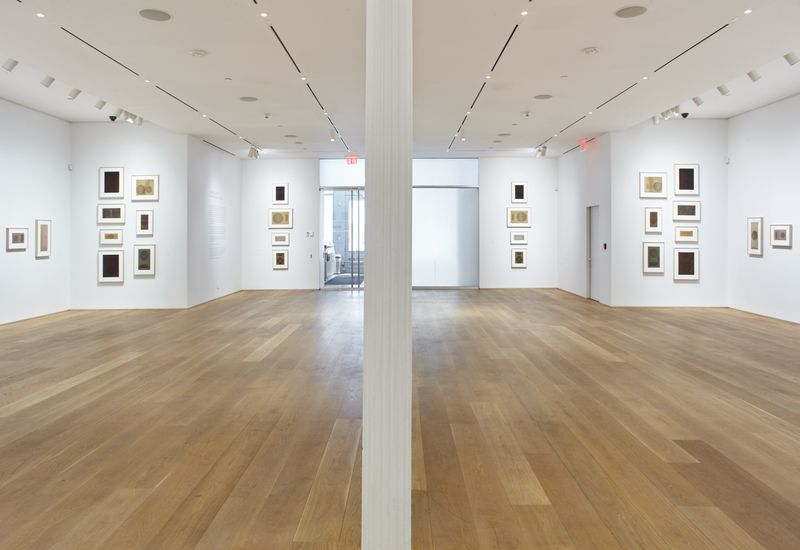 """View of the exhibition """"Gabriel de la Mora: Sound Inscriptions on Fabric""""curated by Brett Littman at The Drawing Center New York (USA)"""