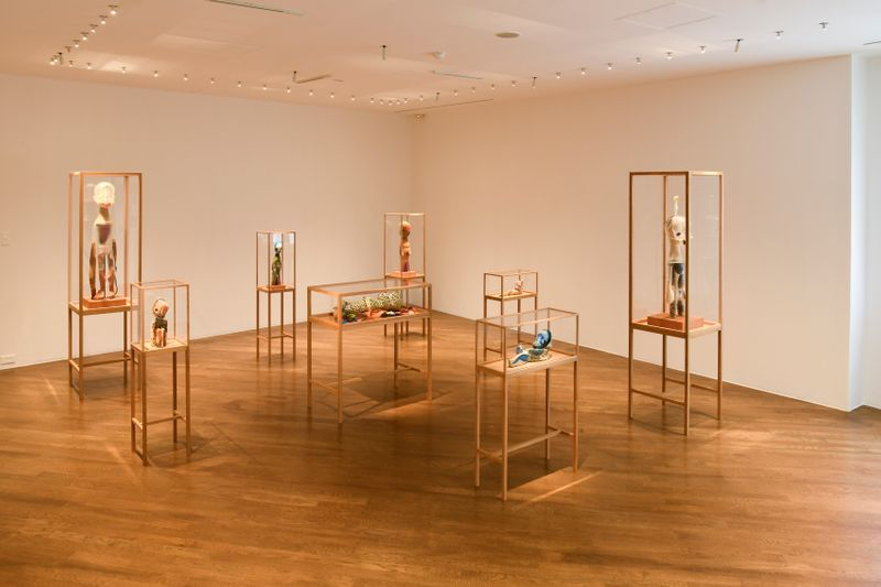 """Installation view of Izumi Kato's solo exhibition """"LIKE A ROLLING SNOWBALL"""" at Hara Museum of Contemporary Art, Tokyo, Japan, 2019."""