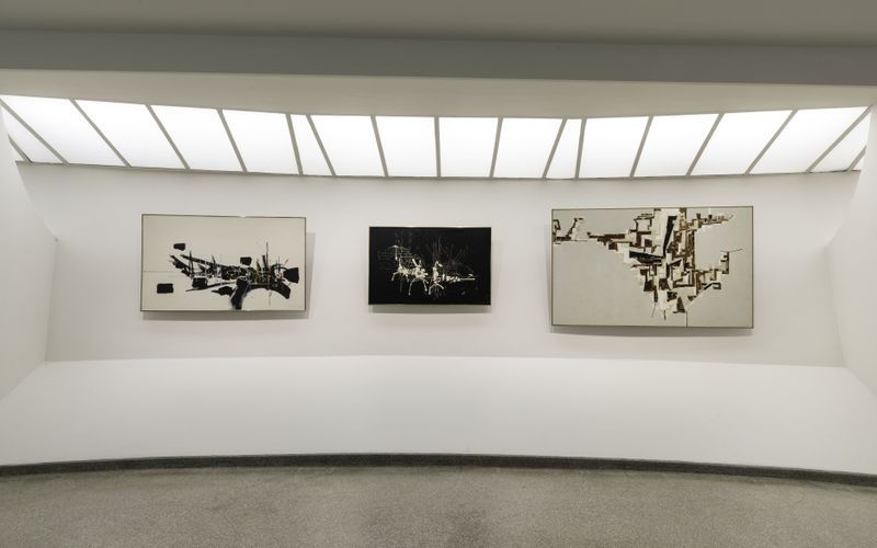 "Georges_Mathieu_View of the group exhibition ""Artistic License"" at Solomon R. Guggenheim Museum  NEW YORK (USA)_20770"