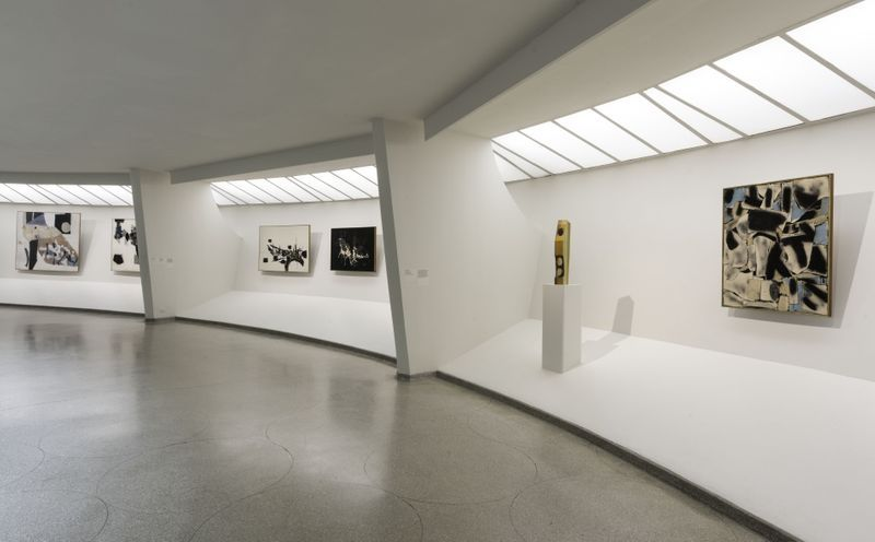 "Georges_Mathieu_View of the group exhibition ""Artistic License"" at Solomon R. Guggenheim Museum  NEW YORK (USA)_20771"