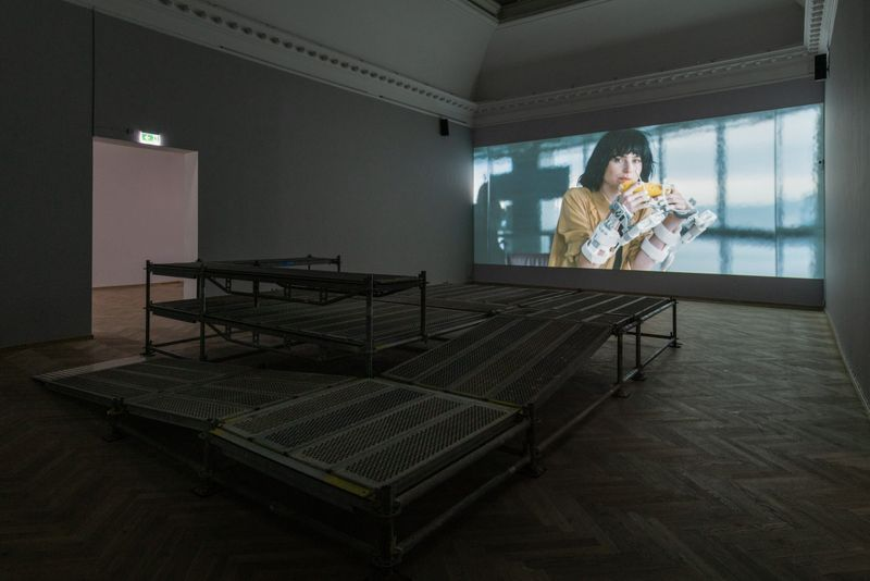 """Jesper_Just_View of the exhibition """"Servitudes"""" curated by Irene Campolmi and Pedro Gadanho  at Kunsthal Charlottenborg Copenhagen (Denmark)_20799"""