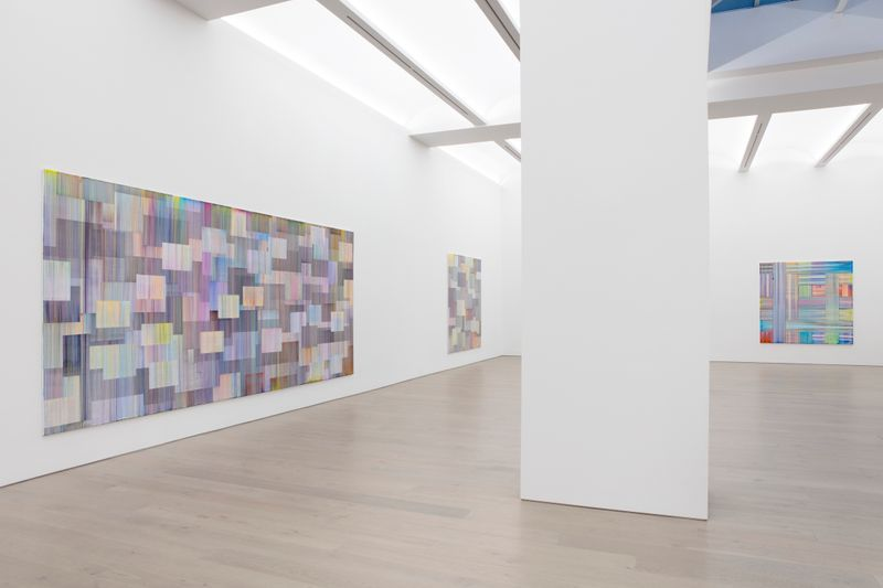 "Bernard_Frize_View of the exhibition ""Journey in Autumn"" at Perrotin, New York (USA), 2019_21044"