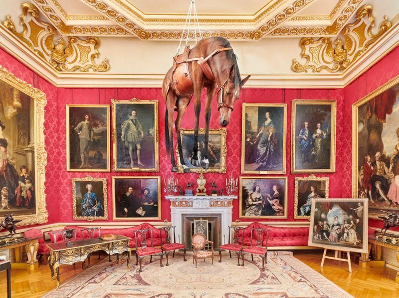"""Maurizio_Cattelan_View of the exhibition """"Victory is Not an Option"""" at Blenheim Palace  OXFORD (United Kingdom)_21101"""