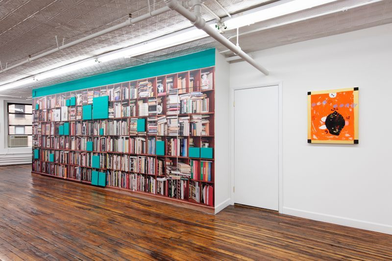 """Claude_Rutault_View of the group exhibition """"Glenn O'Brien: Center Stage"""" curated by  Natacha Polaert  at Off Paradise New York (USA)_21424"""