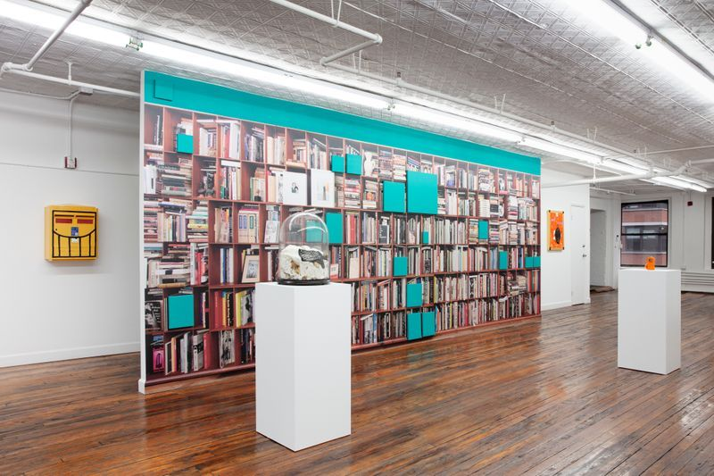 """Claude_Rutault_View of the group exhibition """"Glenn O'Brien: Center Stage"""" curated by  Natacha Polaert  at Off Paradise New York (USA)_21426"""