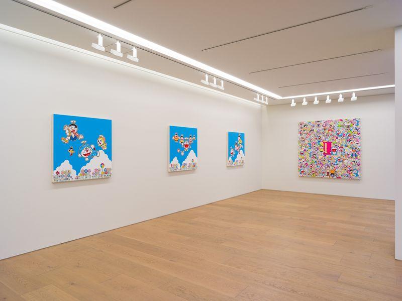 "Takashi_Murakami_View of the exhibition ""Superflat Doraemon"" at Perrotin, Tokyo (Japon), 2019_21592"