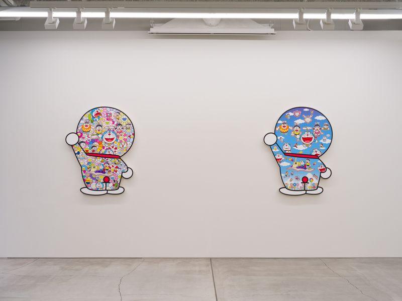 "Takashi_Murakami_View of the exhibition ""Superflat Doraemon"" at Perrotin, Tokyo (Japon), 2019_21594"