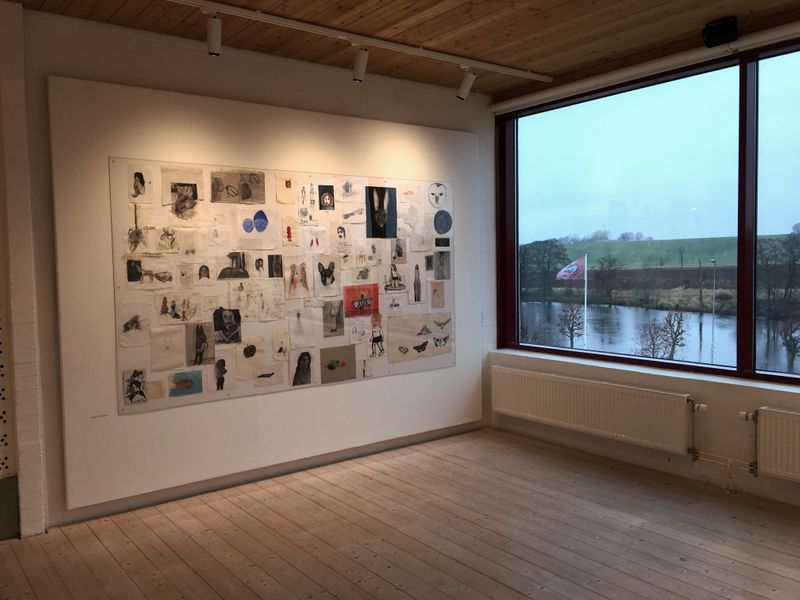 """Klara_Kristalova_View of the group exhibition """"Shades of Existence"""" at Teckningsmuseet i Laholm  Laholm (Sweden)_21640"""
