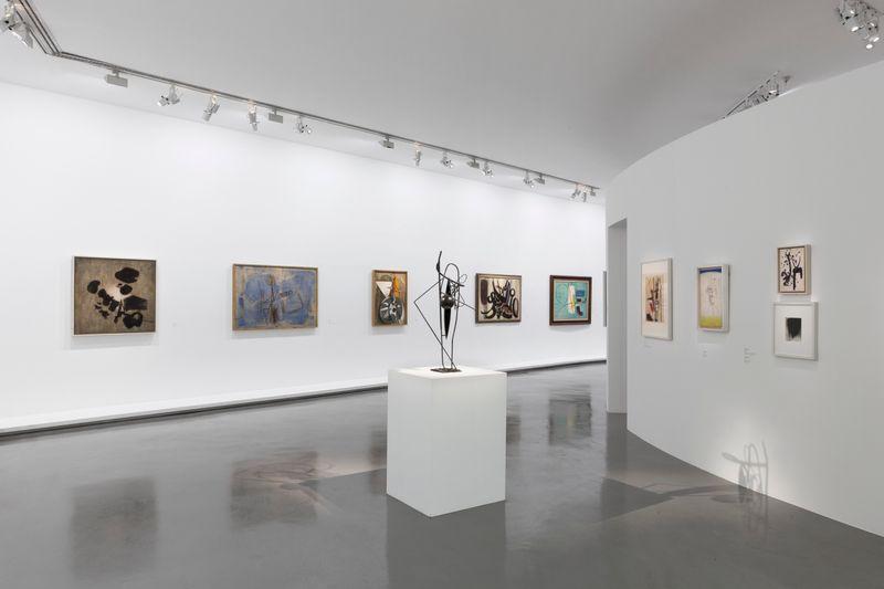"""Hans_Hartung_View of the exhibition """"La fabrique du geste"""" curated by Odile Burluraux  at MusÉe D'art Moderne De La Ville De Paris  PARIS (France), 2019_21733"""
