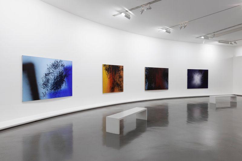 """Hans_Hartung_View of the exhibition """"La fabrique du geste"""" curated by Odile Burluraux  at MusÉe D'art Moderne De La Ville De Paris  PARIS (France), 2019_21741"""