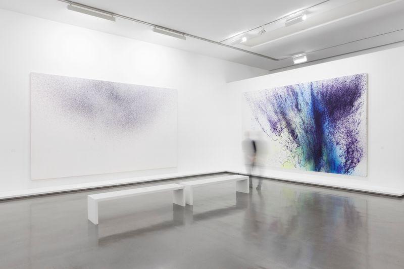 """Hans_Hartung_View of the exhibition """"La fabrique du geste"""" curated by Odile Burluraux  at MusÉe D'art Moderne De La Ville De Paris  PARIS (France), 2019_21745"""
